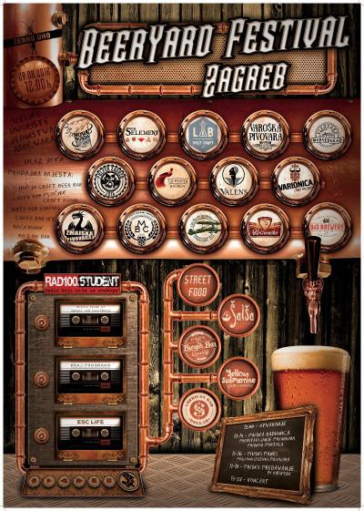 BeerYard Festival u Zagrebu objedinjuje pivo, hranu i glazbu