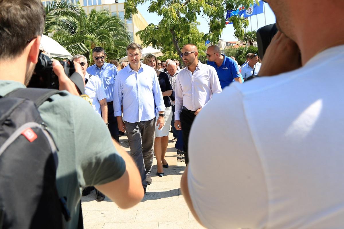 Predsjednik HDZ-a Andrej Plenković danas u Šibeniku (Foto: Tris/H. Pavić)