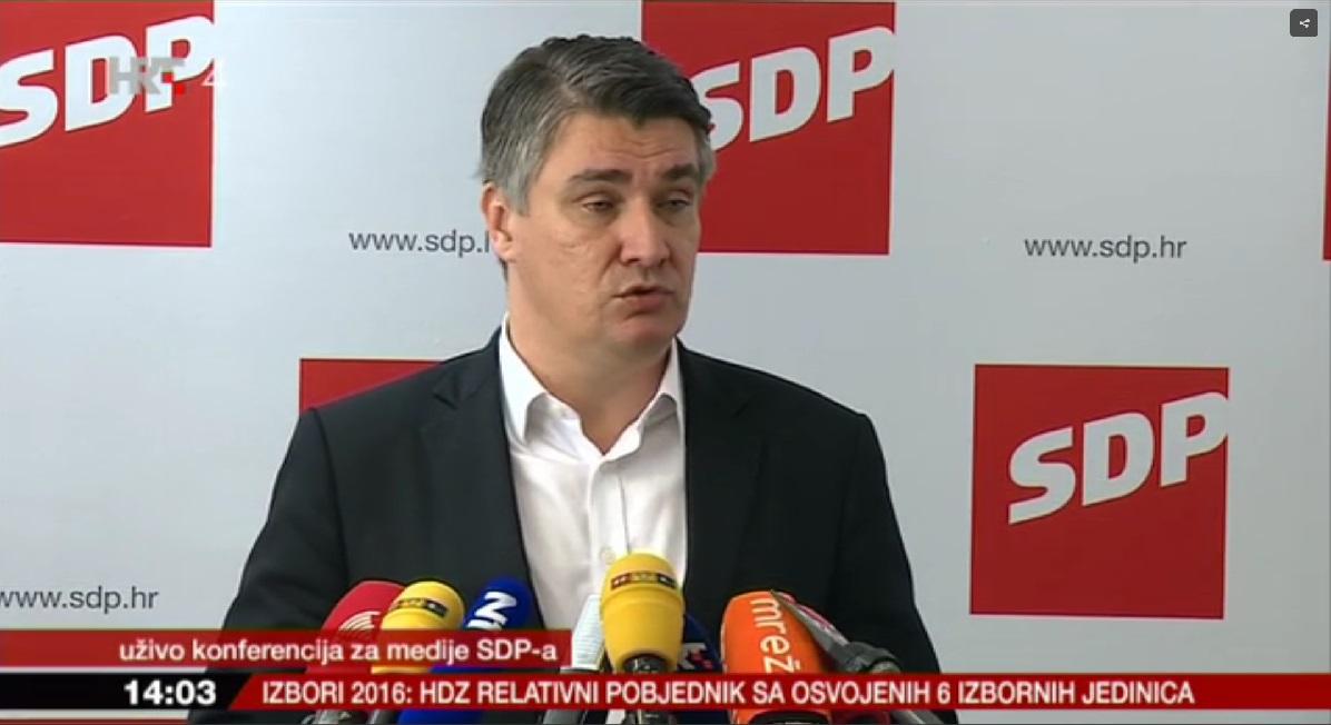 Milanović na današnjoj konferenciji za novinare (Printscreen HRT)