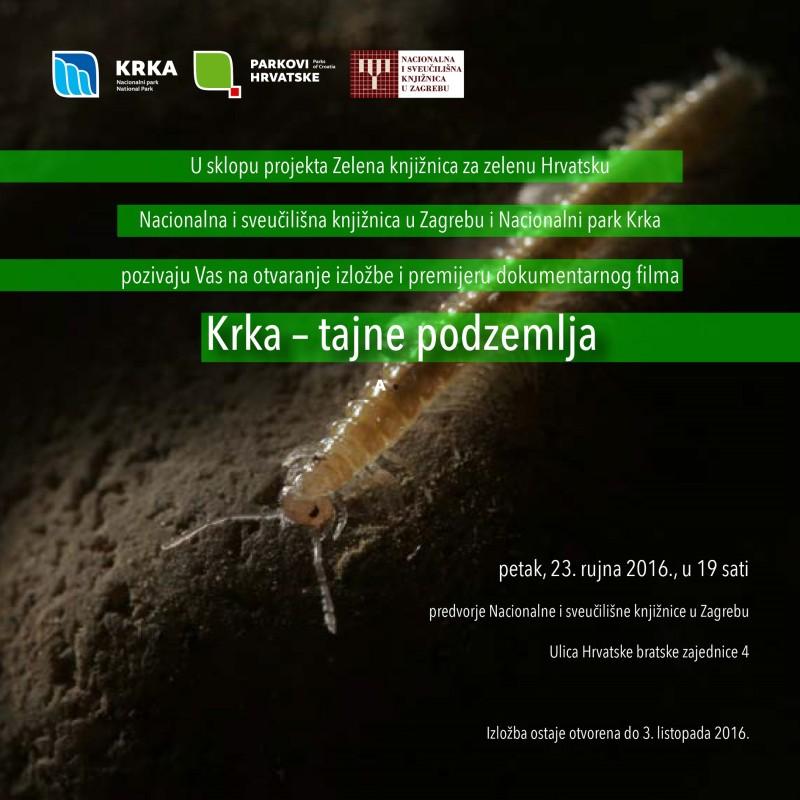 Tajne podzemlja Krke na izložbi u Zagrebu