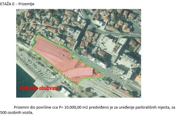 Skica lokacije tržnice u Šibeniku (pothodnik)