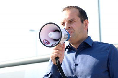 Arhiva: Ivan Klarin na prosvjedu (Foto: H. Pavić)