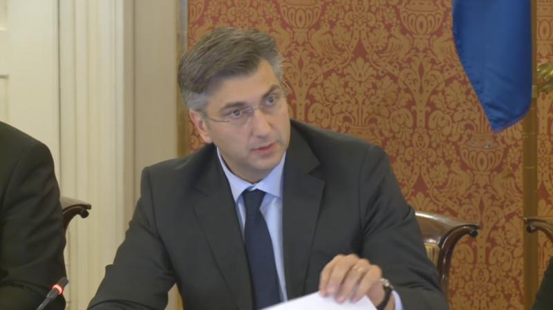 Premijer Andrej Plenković (Printscreen YouTube)
