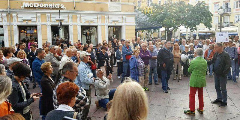 Prosvjed u Rijeci (foto: HRT Radio Rijeka)