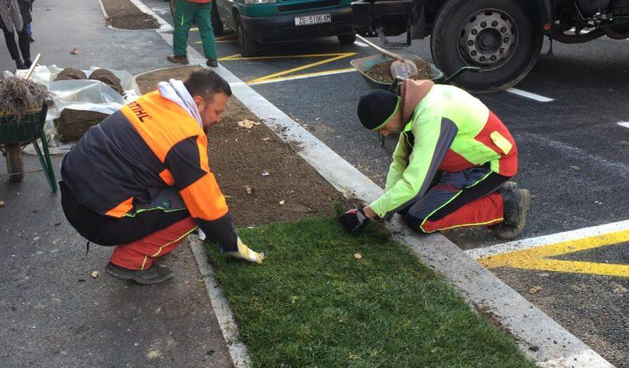 Radnici 'popravljaju' ulično zelenilo (foto Facebook Hrvatska uživo)