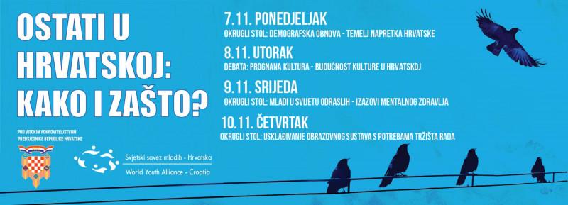 Program manifestacije s ilustracijom vrana na žicama (foto Facebook)