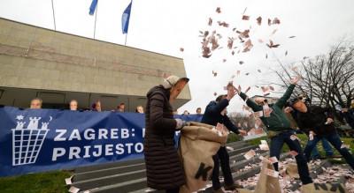 'Bandići' istovarili kamion pun lažnog novca: Zagreb – europska prijestolnica smeća