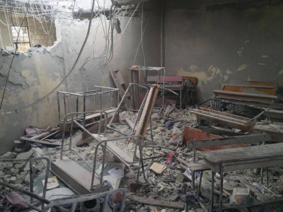Bombardirana osnovna škola u Siriji (foto: http://www.syriauk.org)