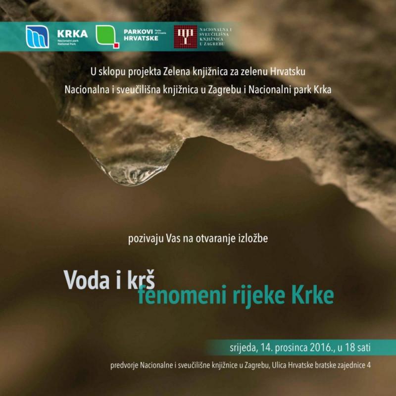 """Izložba """"Voda i krš – fenomeni rijeke Krke"""""""