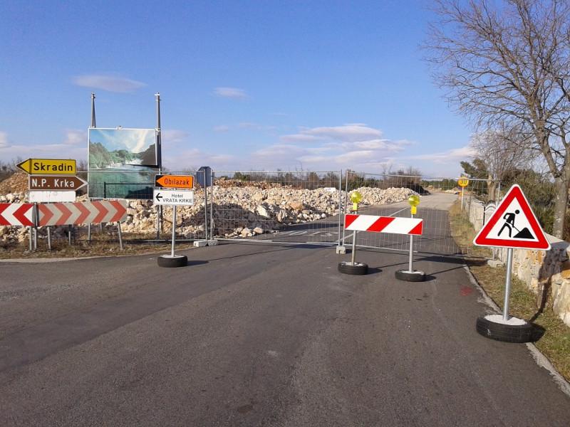 NP Krka: Radovi na pristupnim prometnica prema glavnom ulazu u Nacionalni park