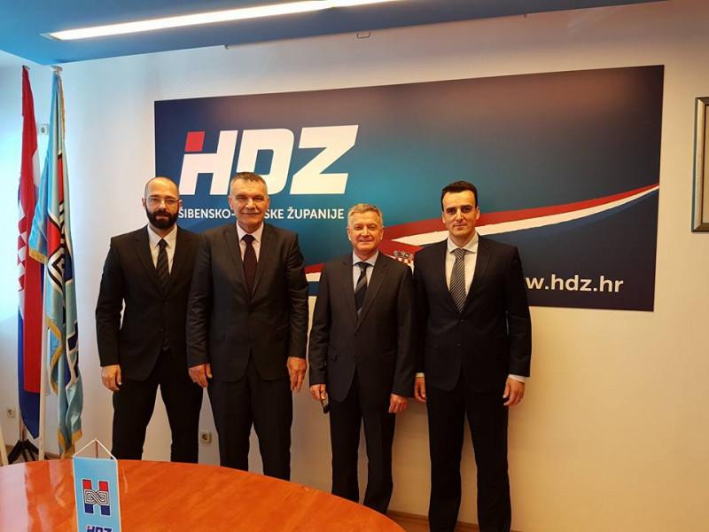 Danijel Mileta, Nediljko Dujić, dr. Željko Burić i Paško Rakić (Foto: HDZ)