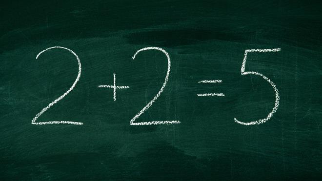 Ilustracija (inače je 2+2=4)