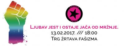 Prosvjed u Zagrebu: Ljubav jest i ostaje jača od mržnje…