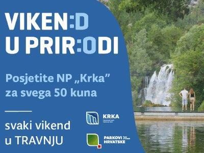Krka: Vikend u prirodi za 50 kuna dnevno, a za mlađe od 18 besplatno