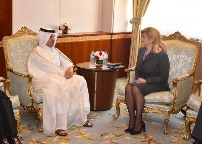 Put u Katar (foto Ured predsjednice)