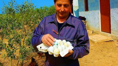 Stipe Petrina i njegova jaja u boji (Foto: Tris/H. Pavić)