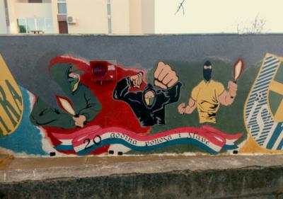 Jedan od umjetničkih djela (foto Zelena Istra)