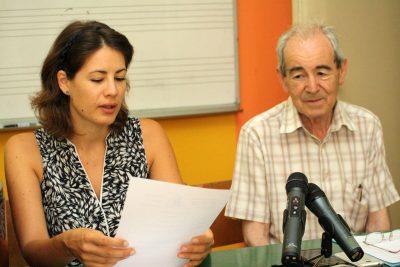 Na slici:Tina Guberina predsjednica društva Organum i tajnik društva Božidar Grga/Foto:Tris/J.Krnic