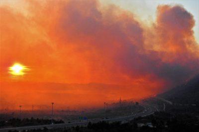 Sunce u požaru (foto TRIS/G. Šimac)
