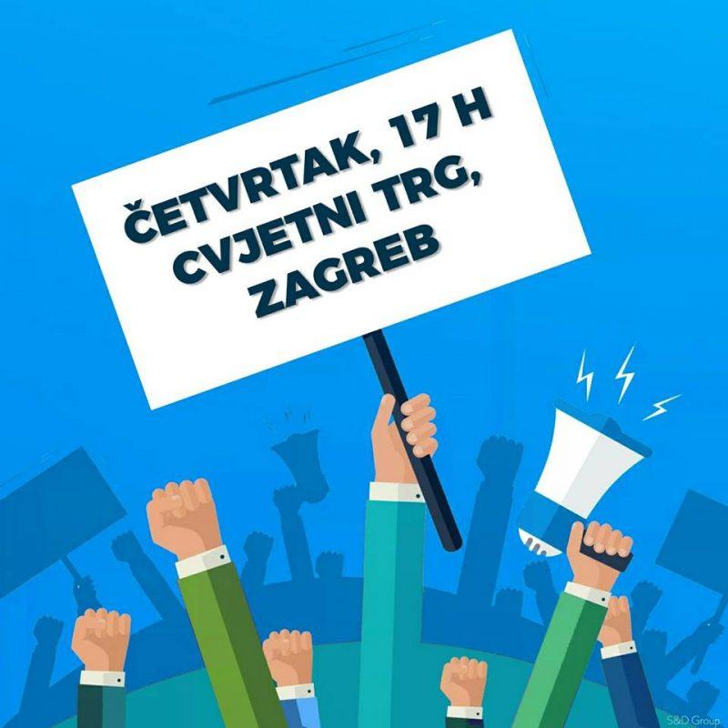 Zagreb, sutra, 17 sati, Cvjetni trg: 'Prosvjed za rušenje poreza na nekretnine i lažljive Vlade!'