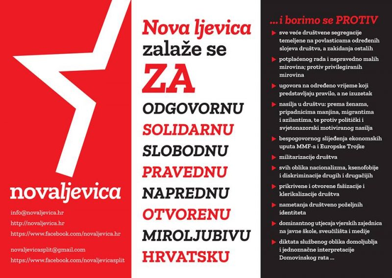 Godina Nove ljevice: Prepoznali su nas oni kojima je stalo do pravedne, odgovorne, socijalno osjetljive i tolerantne Hrvatske