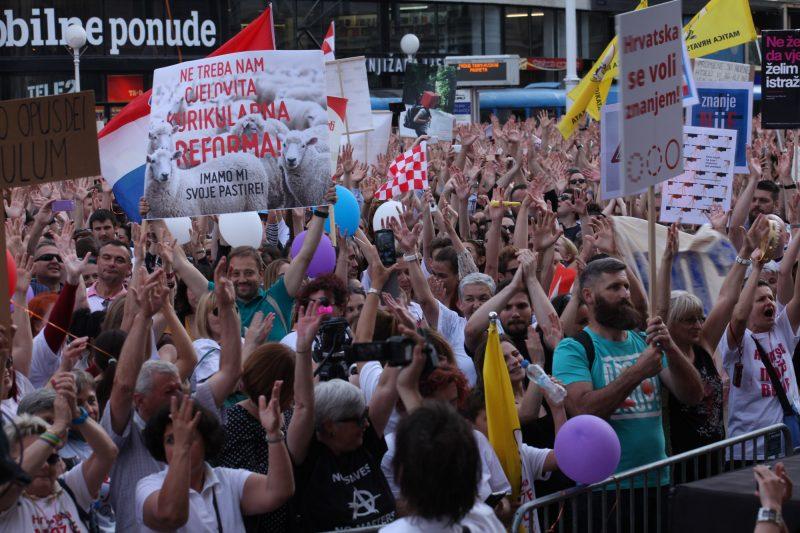 Prosvjed 'Hrvatska može bolje' - foto: Dag Orsan