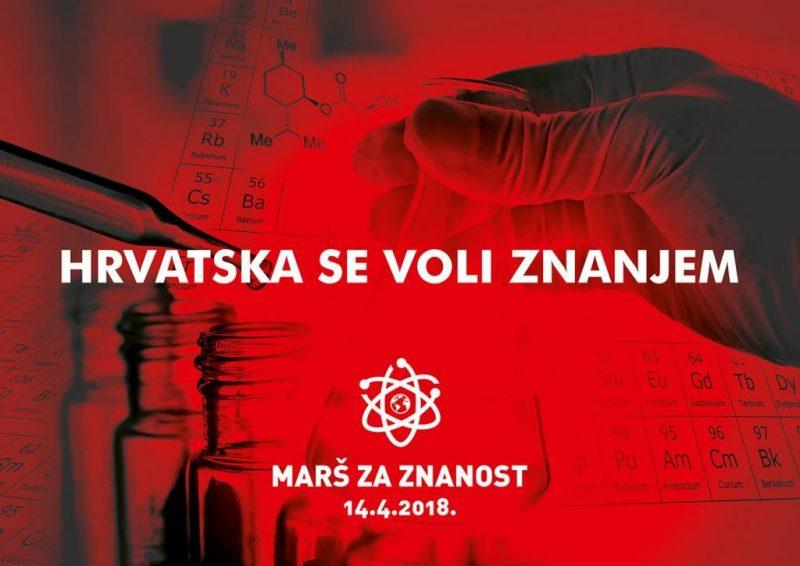 Marš za znanost danas u Zagrebu i Splitu: Znanost je bitna!