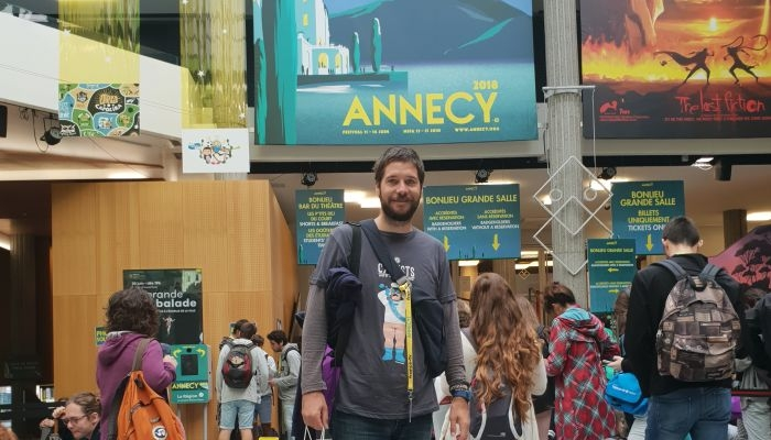 Na slici Veljko Popović na festivalu u Annecyju/Foto:HAVC