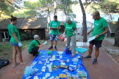 Greenpeace analizira smeće,  prebrojava boce i čepove...