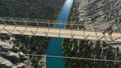 Šetnja na 140 metara iznad Krke: Predstavljen projekt visećeg mosta koji će opet povezati srednjovjekovne utvrde Nečven i Trošenj