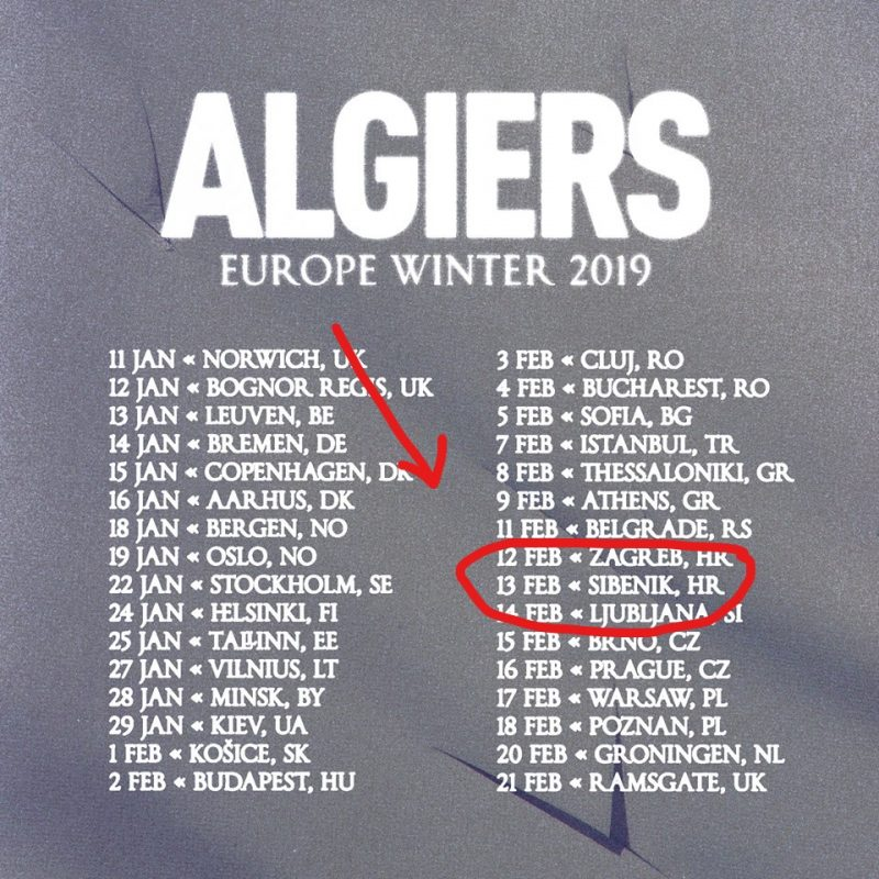Azimut: još par sati do otvaranja nove pozornice i svirke 'najinovativnijeg benda' Algiers