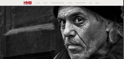 Naslovnica internetske stranice Hrvatske mreže beskućnika