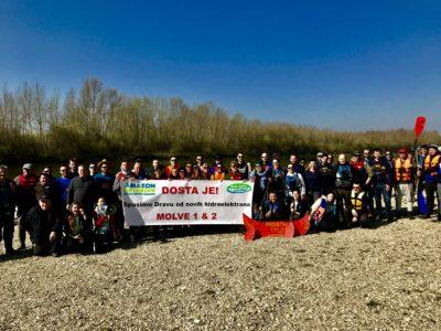 Proljetni spust Dravom: Veslima protiv novih hidroelektrana