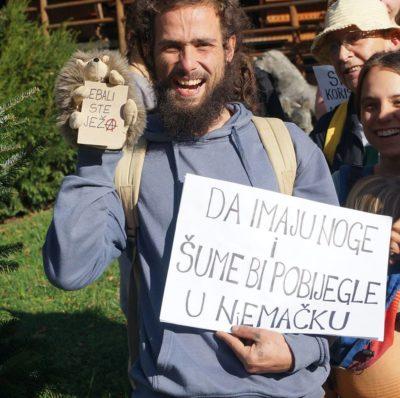 S jednog nedavnog prosvjeda (foto: facebook Zeleni odred)