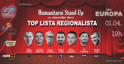 Solidarna i Top lista regionalista: Humanitarna komedija za školovanje siromašne djece
