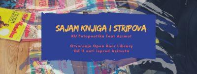Slobodna posudba i razmjena knjiga i stripova na drugim jezicima u subotu ispred Azimuta