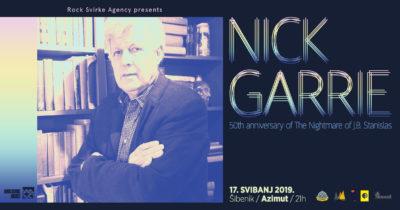 Nick Garrie: Legendarni britanski kantautor u Azimutu
