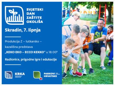Svjetski dan zaštite okoliša u NP Krka: Utrke u vreći, smetlar Keko, potezanje konopa, kružić-križić, vjetrenjače, stabla, smokvenjaci, sportovi, vatrogasci…