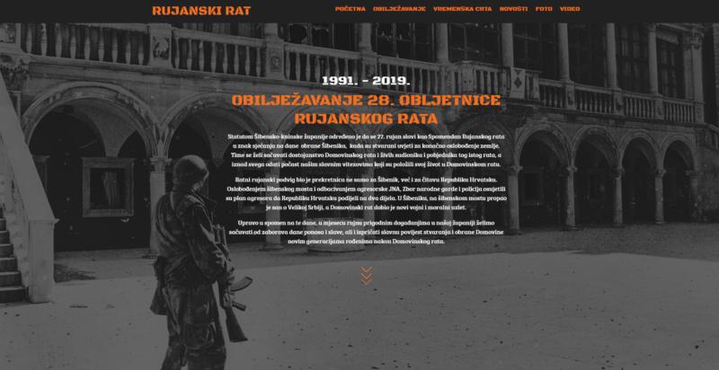 Spomen na 1991. godinu i bitku za Šibenik i Hrvatsku: Pokrenuta stranica www.rujanskirat.com