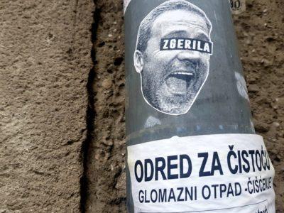 Ilustracija:  plakat na zagrebačkim fasadama (foto TRIS/G. Šimac)