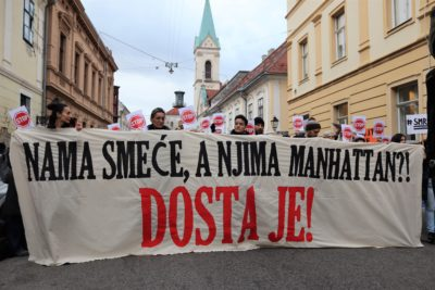 Protest: 'Dosta je Bandićeve samovolje i njegova šikaniranja Zagrepčana'