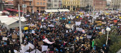 Nedavni prosvjed u Zagrebu (foto SNH)