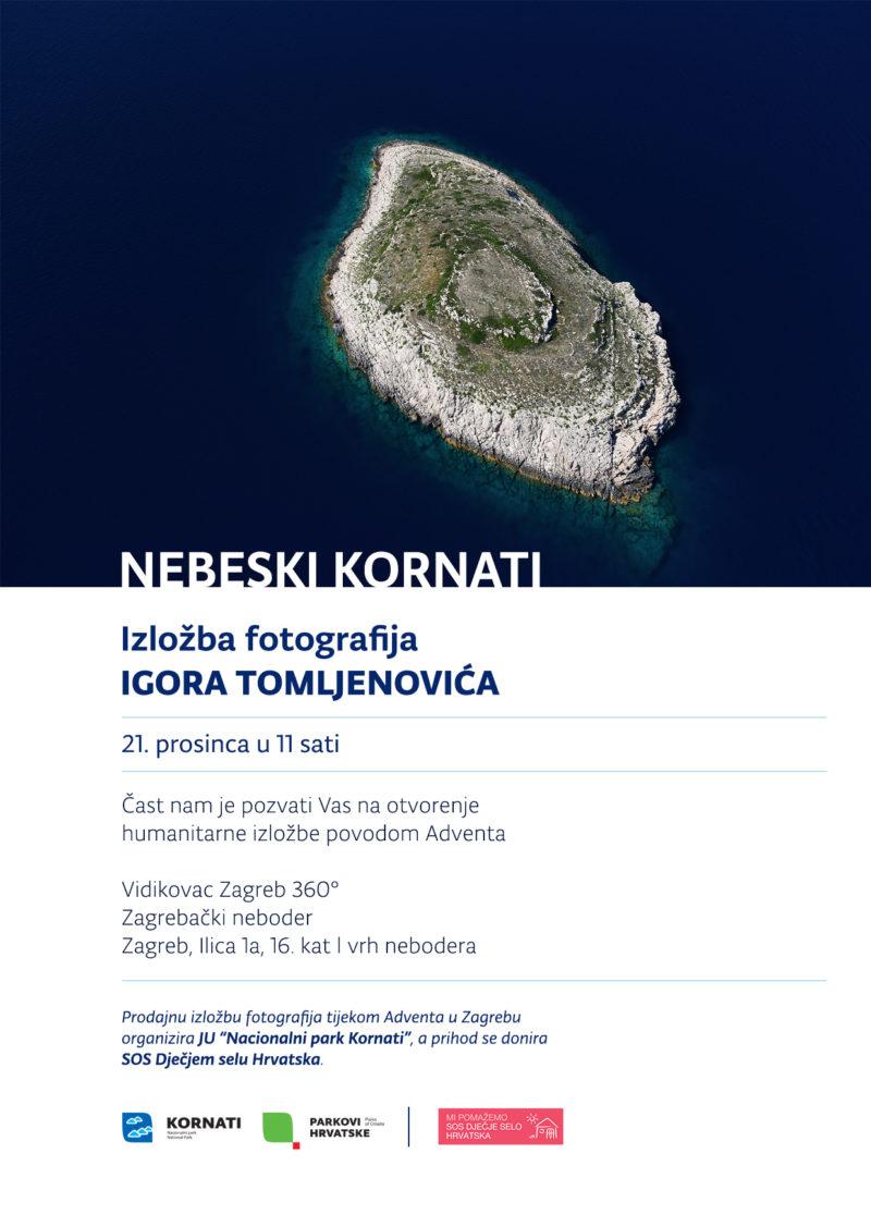 'Nebeski Kornati' na vrhu zagrebačkog nebodera: Novac od prodanih fotografija za SOS Dječje selo Hrvatska