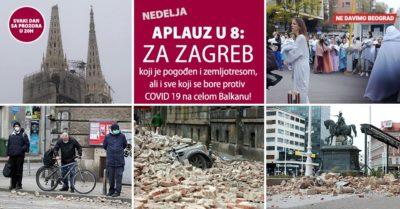 Aplauz u 8: Beograđani će večeras aplaudirati za podršku građanima Zagreba