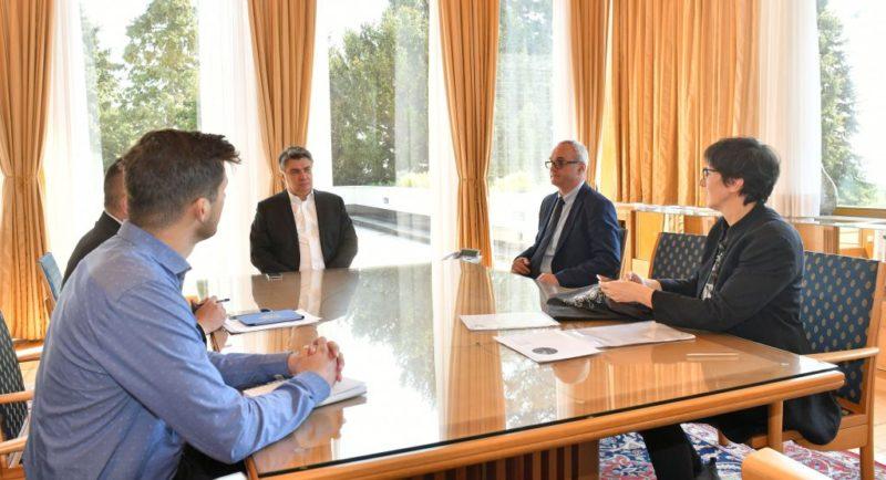 Predsjednik Republike podržao nastojanja HND-a i SNH-a da se pomogne novinarima i medijima (foto predsjednik.hr)
