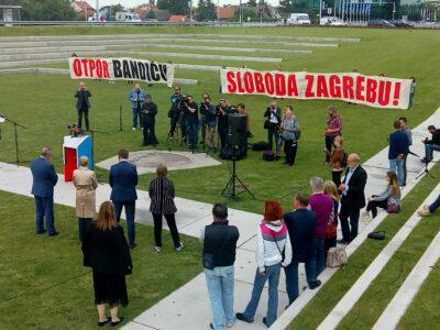 'Otpor Bandiću!'  (foto Zelana akcija)