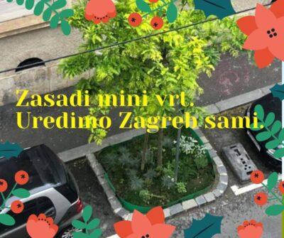 Uredimo Zagreb sami: Otpor Bandićevim redarima koji prijete kaznama zbog malenog vrta na parkiralištu