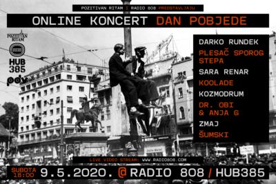 Radio 808 i Pozitivan ritam, koncert za Dan pobjede: Rundek, Max, Sara…