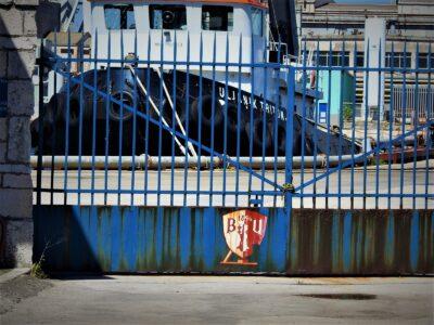Zahrđali grb Uljanika (foto TRIS/G. Šimac)