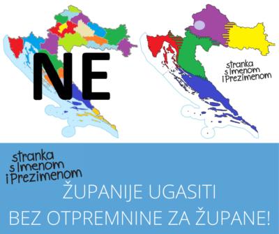 stranka s Imenom i Prezimenom piše Goranu Pauku (HDZ): Pripremite se za gašenje županija – centara za politička uhljebništva